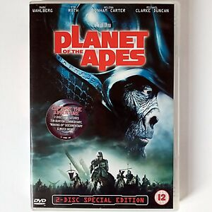 Planet of the Apes (2-Disc Special Ed. DVD, 2001 20th Century Fox) Mark Wahlberg