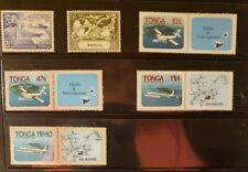 Tonga Aircraft & Aviation Stamps Lot of 6 - MNH - See Details for List