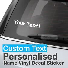 Personalized Custom Text Name Window Vinyl Decal Sticker A-Type For All Vehicle