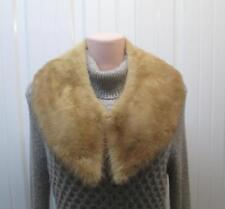 VINTAGE Genuine Natural Pastel Mink Fur Collar Accessory Detachable Handmade USA