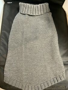 Gray Warm Reflective Knit sweater for a large dog