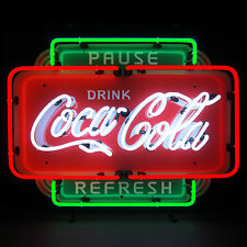 Neon Sign Drink Coca Cola Pause Refresh Coke wall lamp Soda Pop Licensed Star
