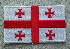 GEORGIA FLAG PATCH Embroidered Badge Iron Sew 3.8cm x 6cm საქართველო Sakartvelo