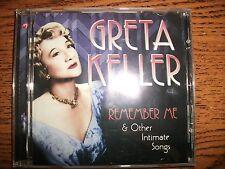 Greta Keller-Remember Me & Other Intimate Songs-2006 Sepia-UK-Rare!!