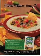 1998 Hidden Valley Ranch Dip Recipe Magazine Print Advertisement Page