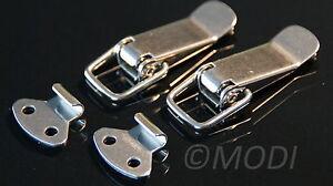 2 Stück Edelstahl Spannverschluss - Kistenverschluss, Klapp-,Hebel-Verschluss
