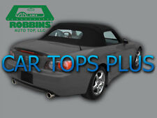"00-01 Honda S2000 Convertible Top & Upgrade Glass ""Robbins"" Original Black Vinyl"