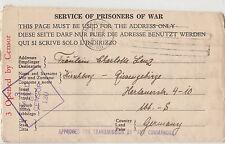 WW2 Australia Prisoner of War letter Melbourne Victoria sent Germany censored