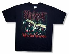 Slipknot! We'Ll End The World/Hope Is Gone Tour 2008 Black T-Shirt Xl New
