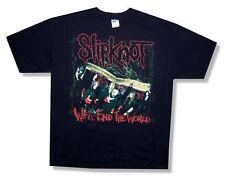 Slipknot! We'Ll End The World/Hope Is Gone Tour 2008 Black T-Shirt Xl New