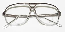Classic 80's Tech Bifocal Reading Glasses Men's Large Gray Clear Ombre +2.00