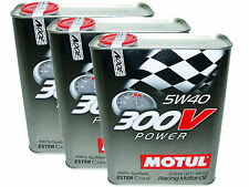 (6L=6.34 QT) MOTUL 300V 5W40 POWER RACING 100% SYNTHETIC ENGINE OIL