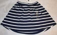 NWT Gap Kids Surf Blue Nautical Striped Knit Comfy Skirt M 8 Yrs