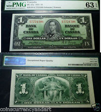 Bank Of Canada $1 1937 PMG CERTIFIED Uncirculated  - Osborne & Towers Signature