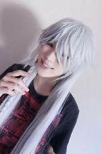 Black Butler Kuroshitsuji Undertaker Cosplay silvery white long Wigs 40'' 100cm: