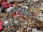 Vintage Modern Jewelry Lot Huge 3 - 4 Pound Junk Wear Craft Brooch Art Necklace