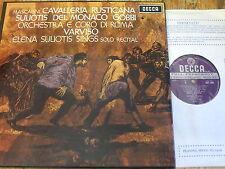 SET 343-4 Mascagni Cavalleria Rusticana etc. / Suliotis etc. W/B 2 LP box