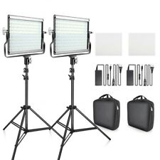 Dimmable Bi-Color 2set LED Video Light Kit With U Bracket 3200K-5600K CRI96 Bag