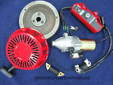 GX160 GX200 ELECTRIC STARTER MOTOR KIT FOR HONDA RECOIL IGNITION COIL FLYWHEEL
