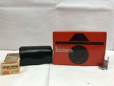 Kowa Model E 35mm Film Camera W/Lens Kit Including 50mm Lens & Zeiss Ikon Flash