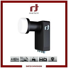 LNB Quattro Pour Multiswitch Inverto Black Ultra 0,2 dB Gain 72 dB HD 3D UHD