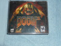 Doom 3 (PC, 2004) PREOWNED PC CD-ROM  GAME SOFTWARE DISCS 1,2,3 FREE SHIPPING