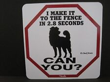 """Sign: """"I MAKE IT TO THE FENCE IN 2.8 SECONDS...CAN YOU?"""