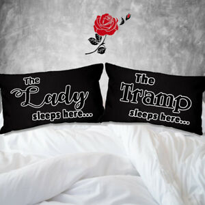 The Lady and The Tramp sleeps here cushion cover 51cmx30cm couples decor for 2