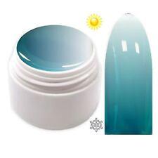 Trendfarbe Thermo Farbgel UV Gel Farbwechsel Türkis - Weiß  5ml TG-12