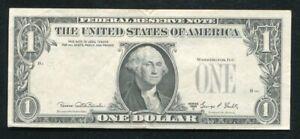 "1969-D $1 FRN FEDERAL RESERVE NOTE RICHMOND, VA ""OVERPRINT ON BACK ERROR"" AU"