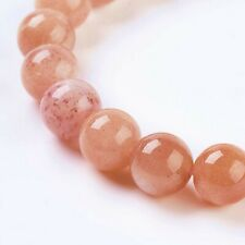 1 Strand of 8mm Natural Brown  Sunstone 24 Beads Round