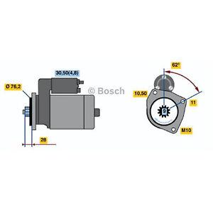 Bosch Starter Motor 0 001 125 519 fits Volkswagen Touareg 3.0 V6 TDI (7L) 165kw