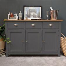Grey Oak Sideboard Large / Painted / Dresser / Solid Wood / / Haywood