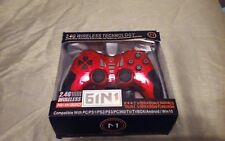 Gaming Wireless Game Controller for Computer 2.4GHz RF Dual Shock Joypad PC