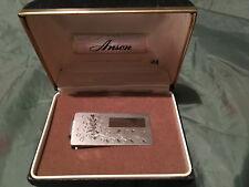 Vintage Anson Silver Money Clip 1/10 Silver Overlay Engravable