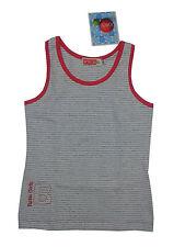 100% Baumwolle Gestreifte Ärmellose Mädchen-T-Shirts & -Tops mit Rundhals