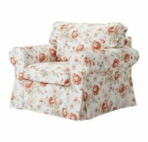 New Original IKEA cover set Ektorp armchair BYVIK MULTICOLOUR 401.054.39 FLORAL