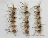 Daddy Long Legs Trout Flies, 18 Standard & Gold Head, Mixed Size, Fly Fishing
