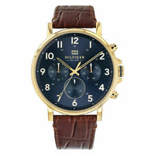 Brand New Tommy Hilfiger Daniel Leather Day Date Mens Designer Watch 1710380