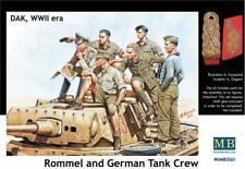Master Box 1/35 Rommel and German Tank Crew DAK WWII # 3561