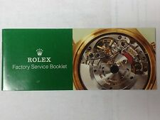 ROLEX Service Booklet USA
