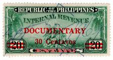 (I.B) Philippines Revenue : Documentary 30c on 20c OP