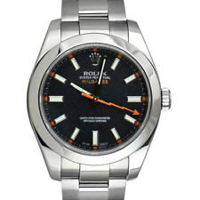 ROLEX - Mens 40mm SS MILGAUSS - Black Index Dial - 116400 SANT BLANC