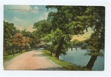Riverside Drive Looking East Wichita Kansas Linen Postcard