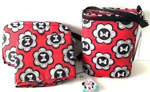 Disney Baby Duel Bottle Holder Bag & Diaper Shuttle Changing Pad Organizer Set