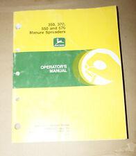 1991 John Deere 350 370 550 & 570 Manure Spreaders Operator's Manual OMW40692 K1