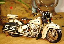 Metal retro Police Motorcycle Model for Home Decor, Policeman Gift items Figure
