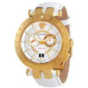 Versace V-Race Chronograph Quartz Silver Dial Men's Watch VEBV00319