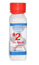 NEW HYLAND'S #2 CALC PHOS 6X HOMEOPATHIC SYMPTOM TEETHING SORE THROAT RELIEF