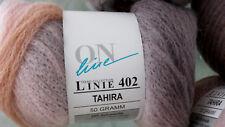 50g TAHIRA ONline 215m/ 50g NATUR Color Wolle MERINO stricken Fb 01 UVP 5,95€